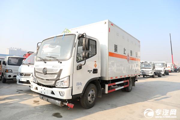 福田欧马可S130国六易燃固体厢式运输车