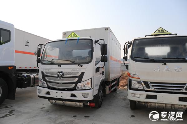 福田欧马可S1国六4.1米毒性和感染性物品厢式运输车