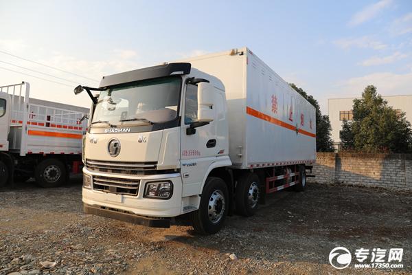 陕汽轩德翼6小三轴国六8.6米腐蚀性物品厢式运输车