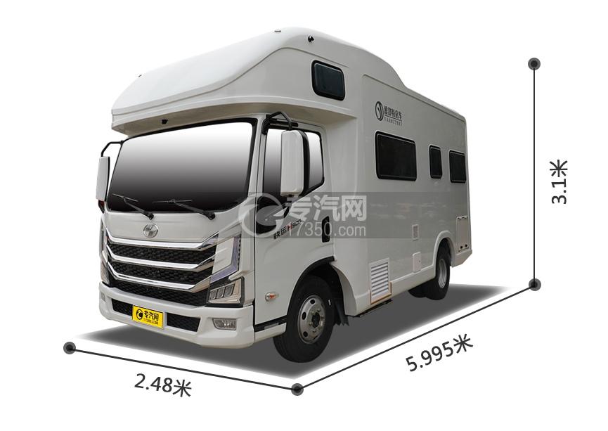 跃进快运H500国六C型房车外观尺寸图