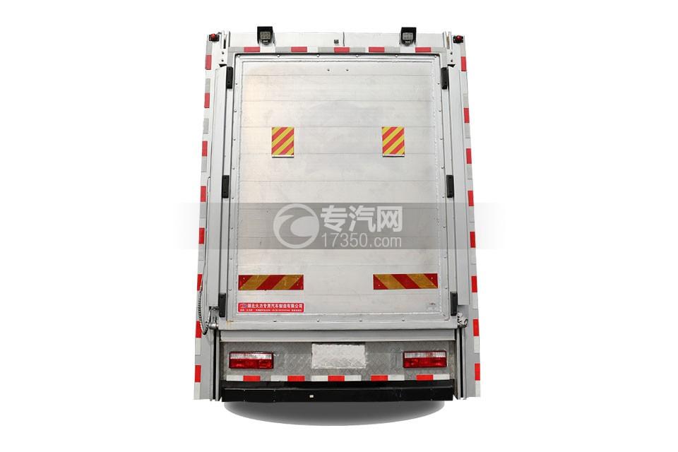 江淮格尔发A5X单桥国六铝合金畜禽运输车正后图