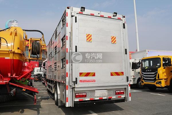 江淮格尔发A5X单桥国六铝合金畜禽运输车左后图