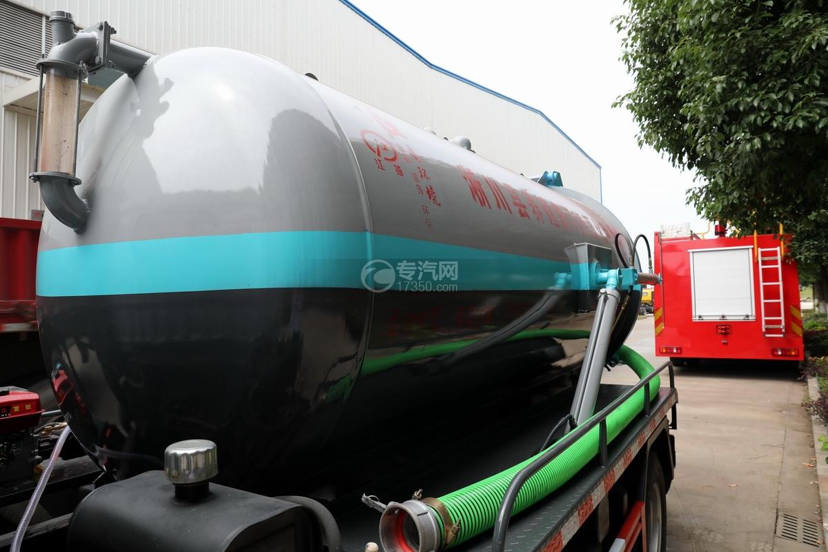 東風多利卡D6國六4.1方吸污車罐體細節