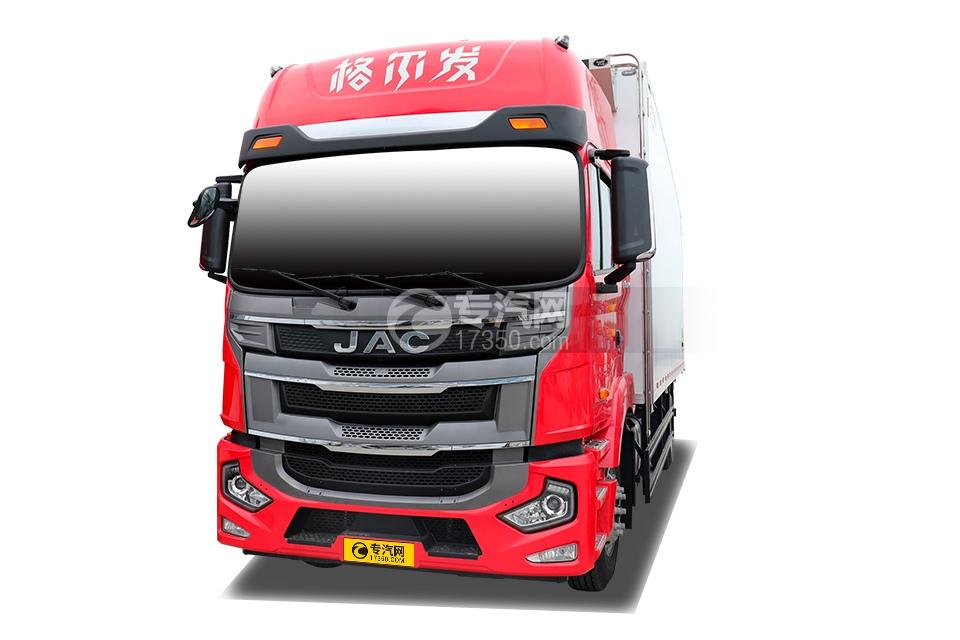 江淮格尔发A5X国五6.8米冷藏车左前图