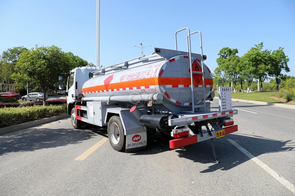 东风福瑞卡F7国六6.08方加油车左后图