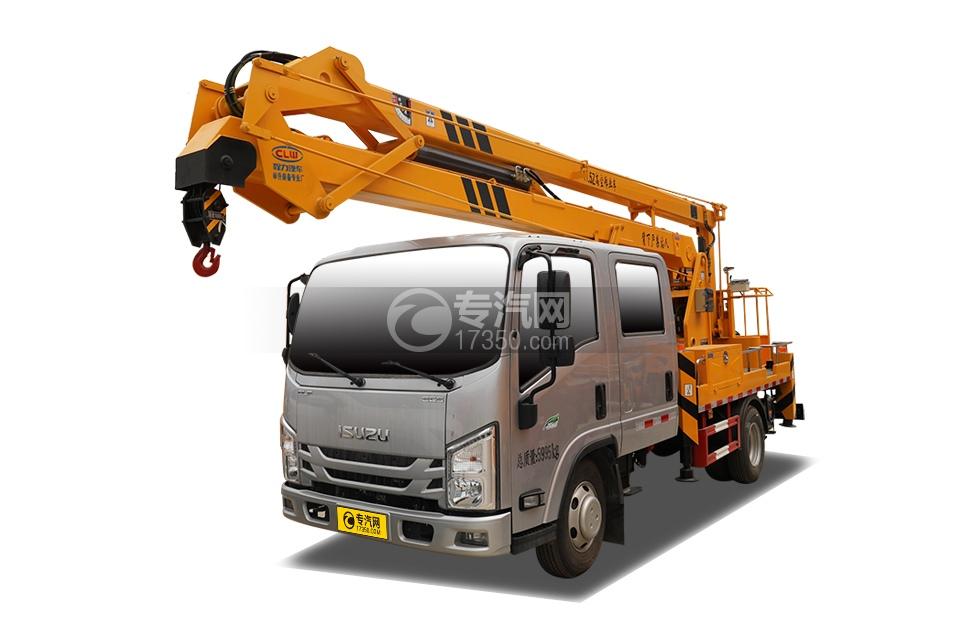 江西五十铃ELF双排EC5国六17.5米折叠臂式高空作业车
