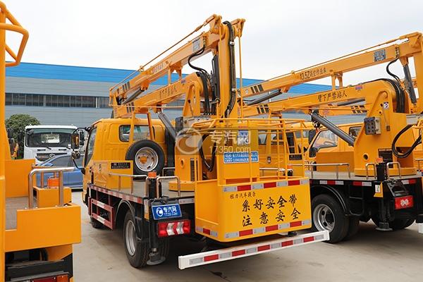 江淮康铃H3国六13.5米折叠臂式高空作业车左后图