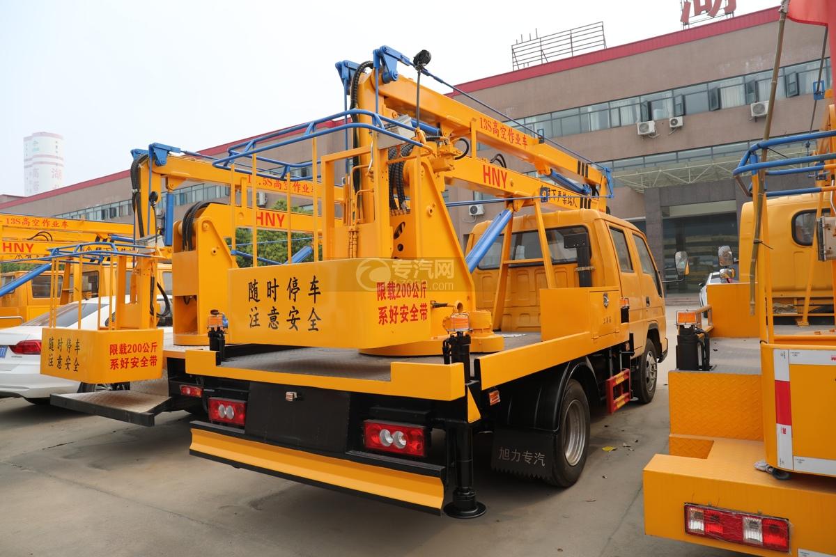 福田时代小卡之星3双排国六13.5米折叠臂式高空作业车右后图