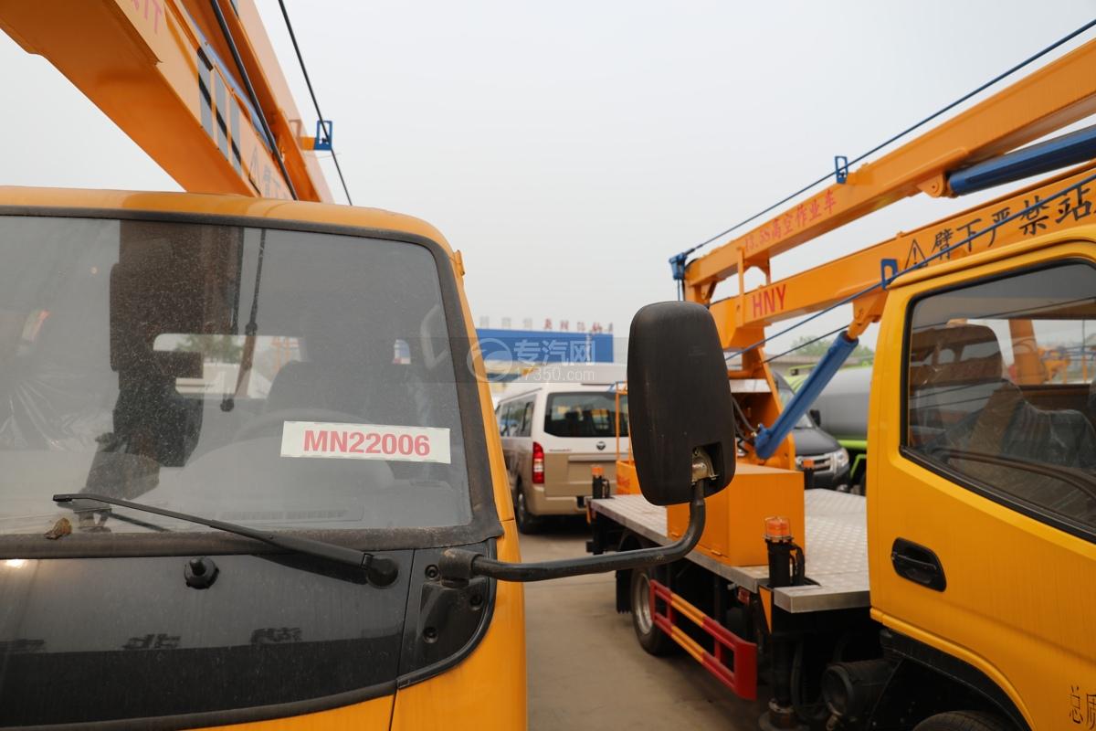 福田时代小卡之星3双排国六13.5米折叠臂式高空作业车左后视镜
