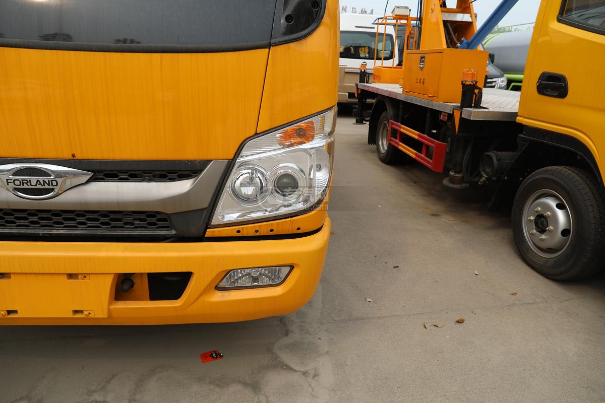 福田时代小卡之星3双排国六13.5米折叠臂式高空作业车左大灯