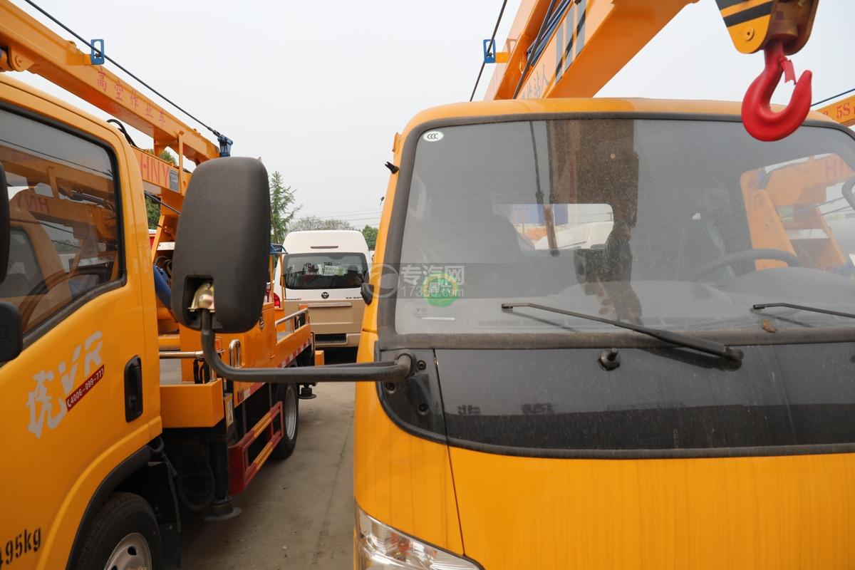 福田时代小卡之星3双排国六13.5米折叠臂式高空作业车右后视镜