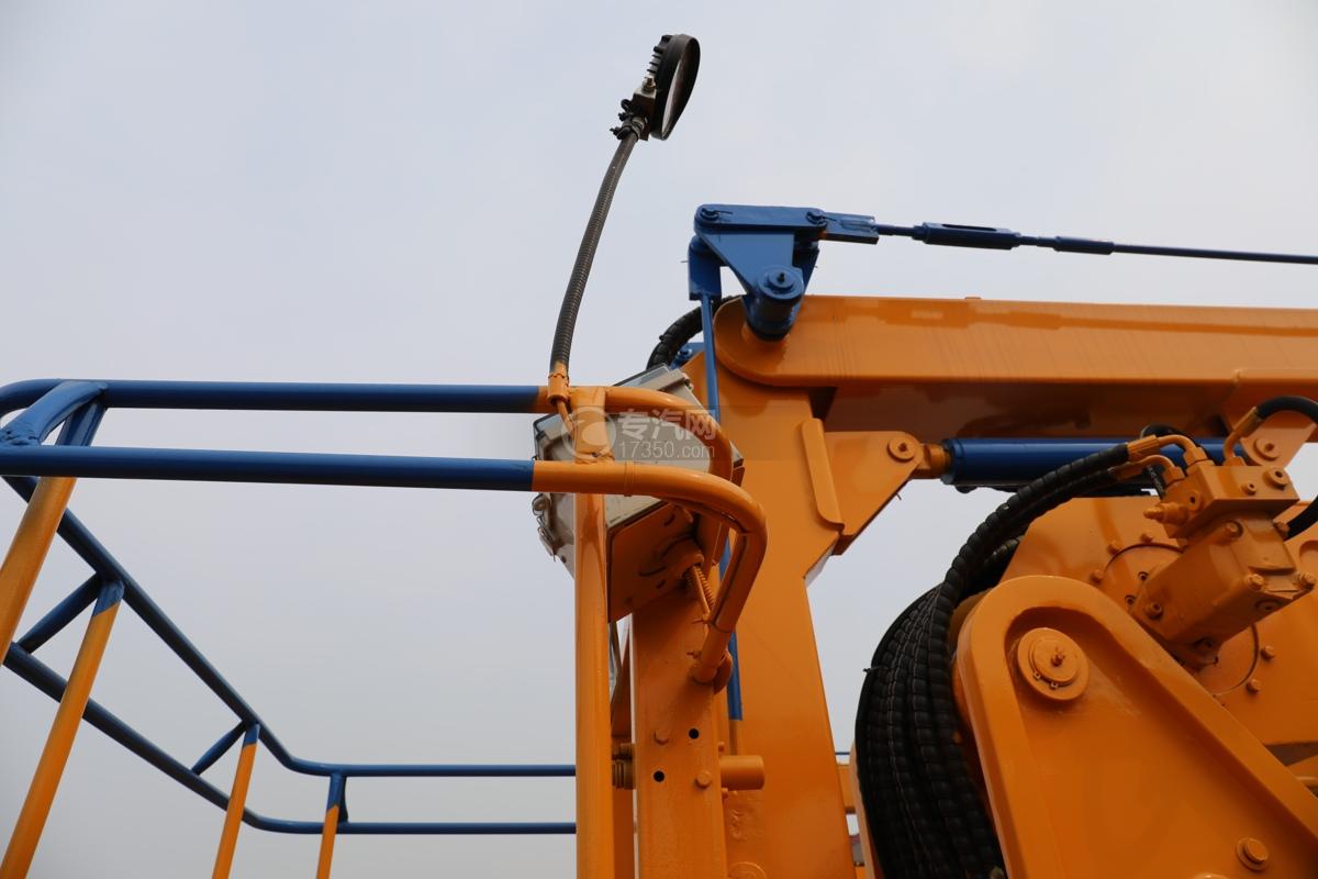 福田时代小卡之星3双排国六13.5米折叠臂式高空作业车工作斗操作盒