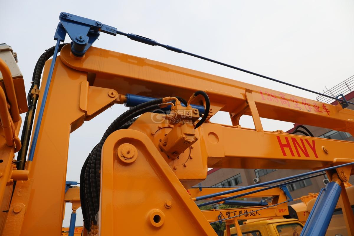 福田时代小卡之星3双排国六13.5米折叠臂式高空作业车大臂