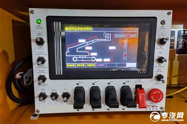江铃顺达国六17.5米伸缩臂式高空作业车应急泵