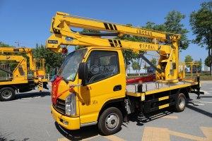 凱馬K1單排國六13.5米折疊臂式高空作業車圖片
