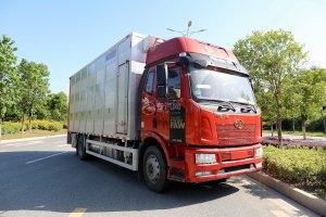 解放J6L单桥国六铝合金畜禽运输车图片