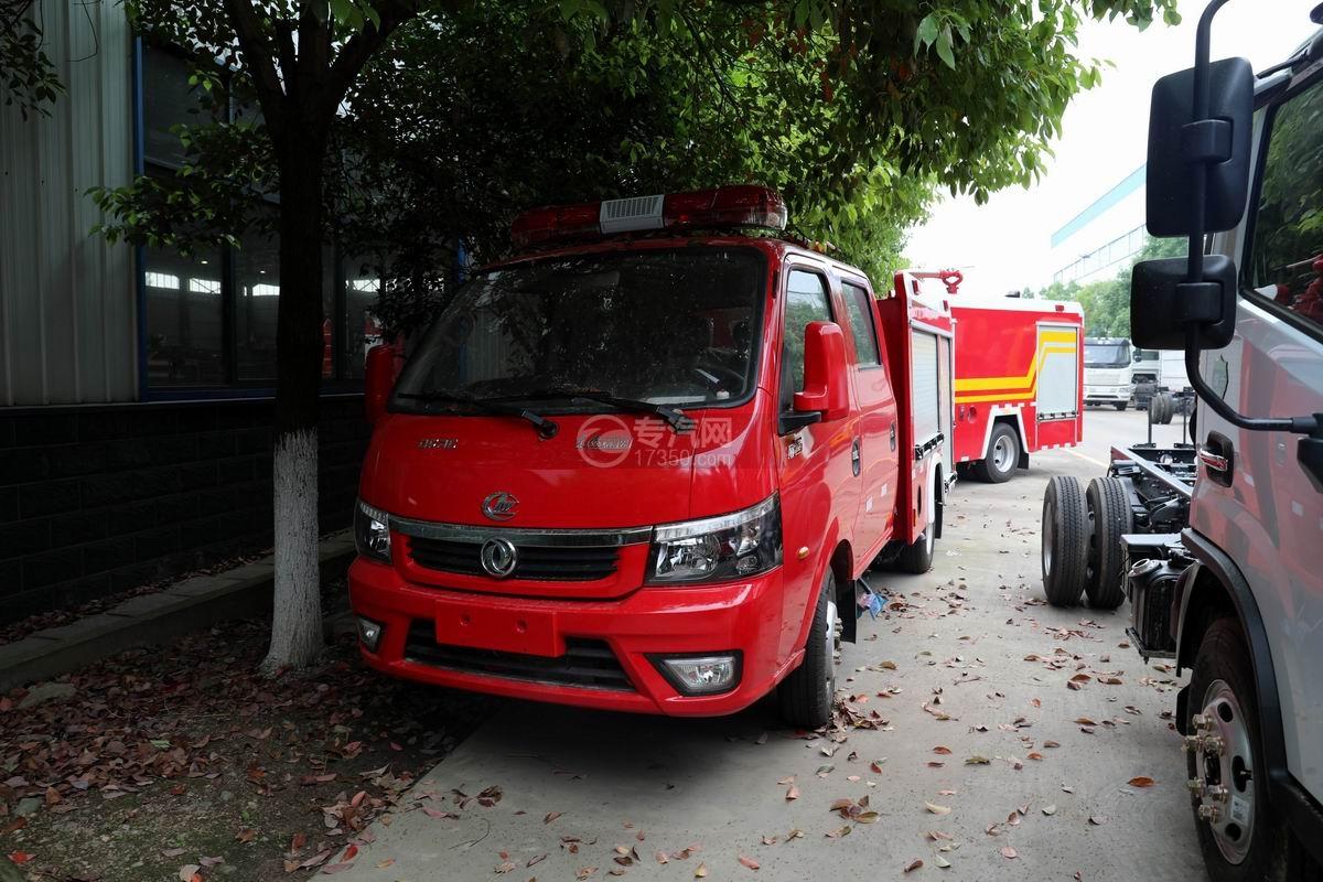东风途逸双排国六水罐消防车