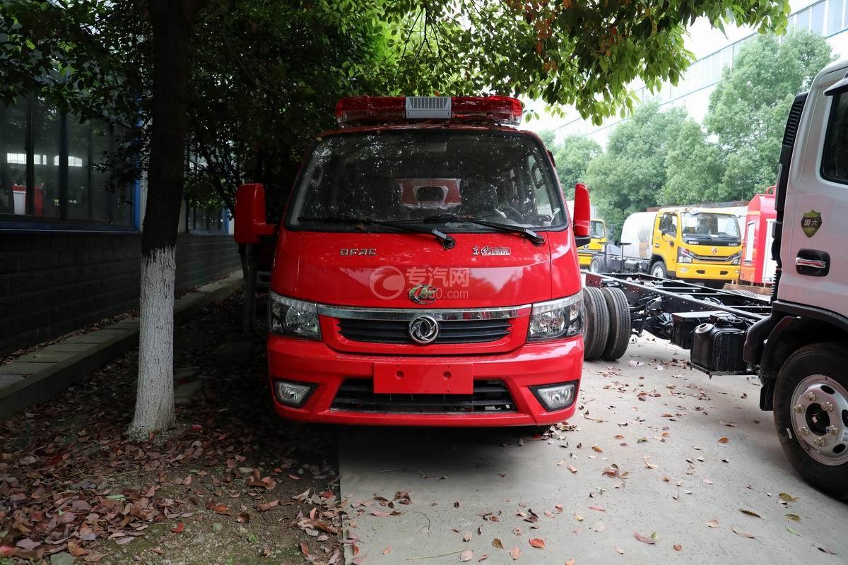 东风途逸双排国六水罐消防车正前方图