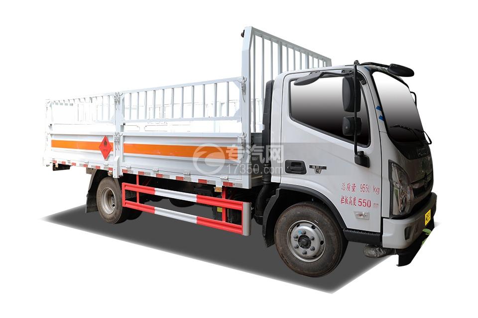 福田奧鈴CTS國六5.15米氣瓶運輸車(倉欄式)