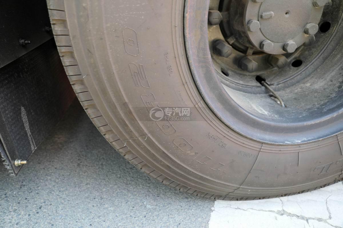东风天龙VL后双桥国六移动电源车轮胎规格