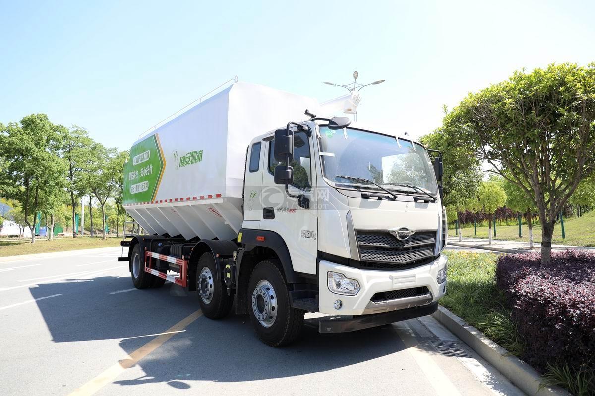 福田時代領航ES7排半國六散裝飼料運輸車