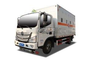 福田欧马可S130国六4.1米易燃固体厢式运输车