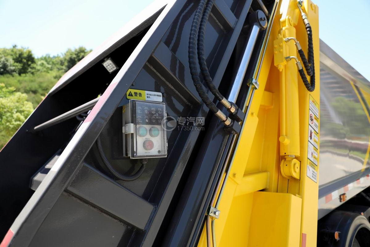 东风D6国六压缩式垃圾车室外电控操作装置