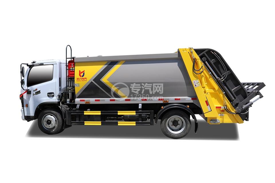东风D6国六压缩式垃圾车侧面图