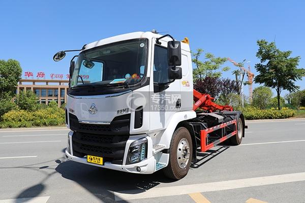 東風柳汽乘龍單橋國六車廂可卸式垃圾車左前45度圖