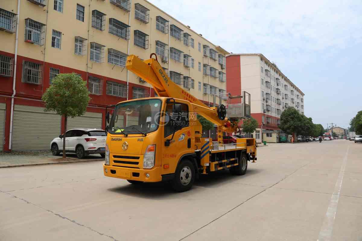 大運小卡國六129馬力23米直臂式高空作業車