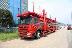 解放悍V2.0单桥国六轿运车(红色)图片