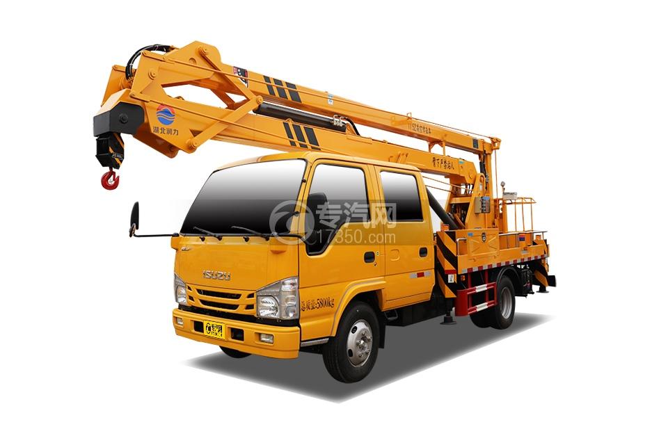 五十鈴ELF雙排座國六17.5米折疊臂高空作業車