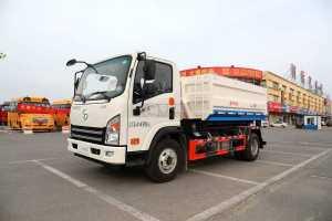 大运新奥普力国六3550轴距车厢可卸式垃圾车图片