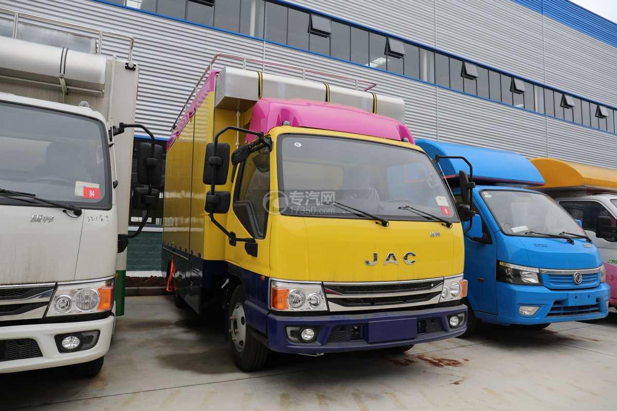 江淮康铃H5国六移动餐车(黄色)右前图