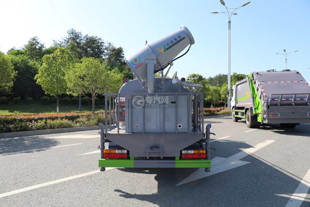 大运奥普力A3国六4.2方绿化喷洒车带雾炮车尾图