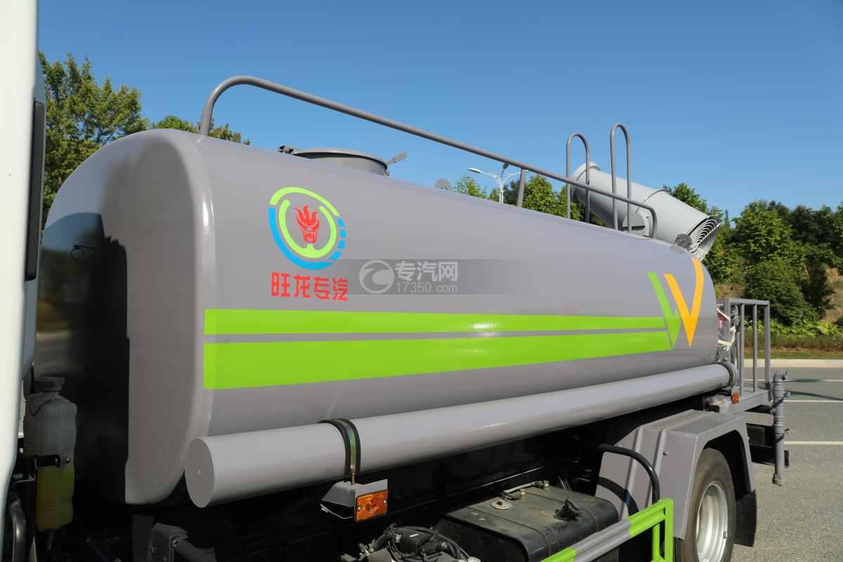 大运奥普力A3国六4.2方绿化喷洒车带雾炮罐体