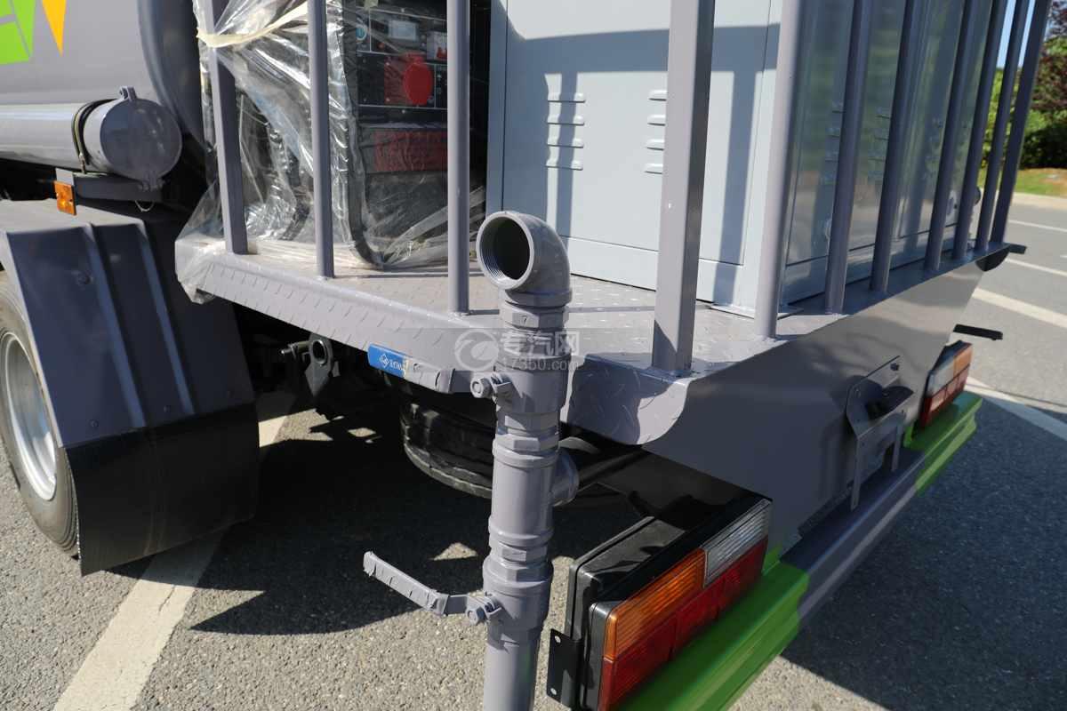 大运奥普力A3国六4.2方绿化喷洒车带雾炮工作平台
