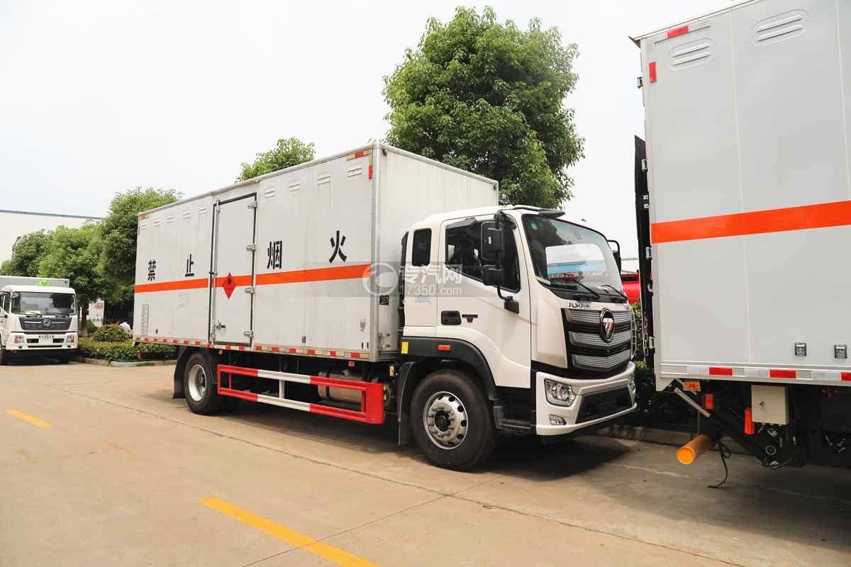 福田歐航國六6.8米易燃液體廂式運輸車