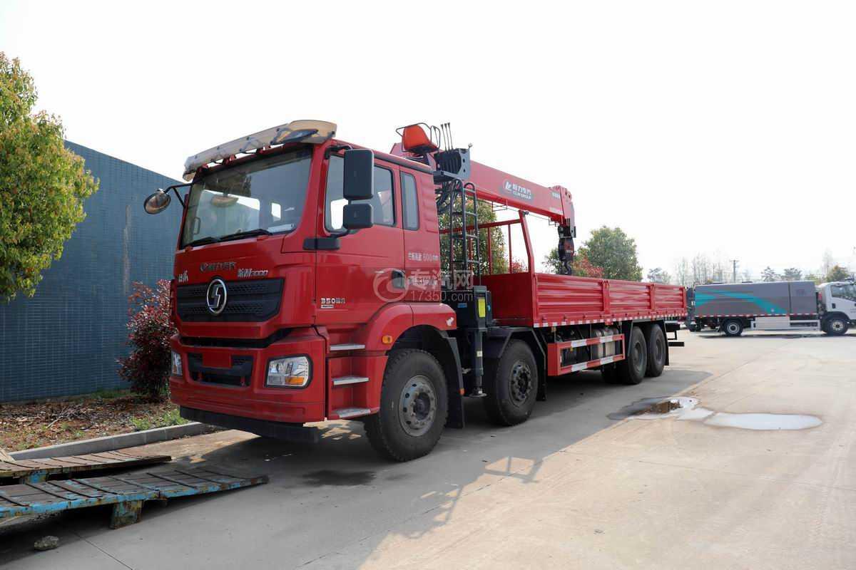 陜汽德龍新M3000前四后八國六14噸直臂隨車吊(紅色)