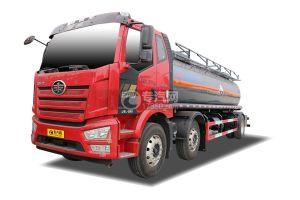 解放J6L小三轴国六14.8方腐蚀性物品罐式运输车