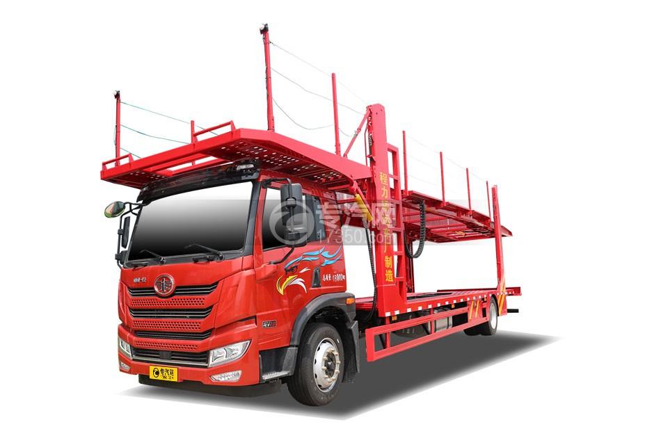 解放悍V2.0单桥国六轿运车(红色)
