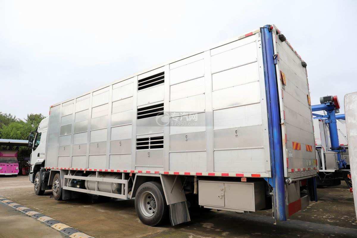 东风柳汽乘龙H5小三轴国六铝合金畜禽运输车左后图
