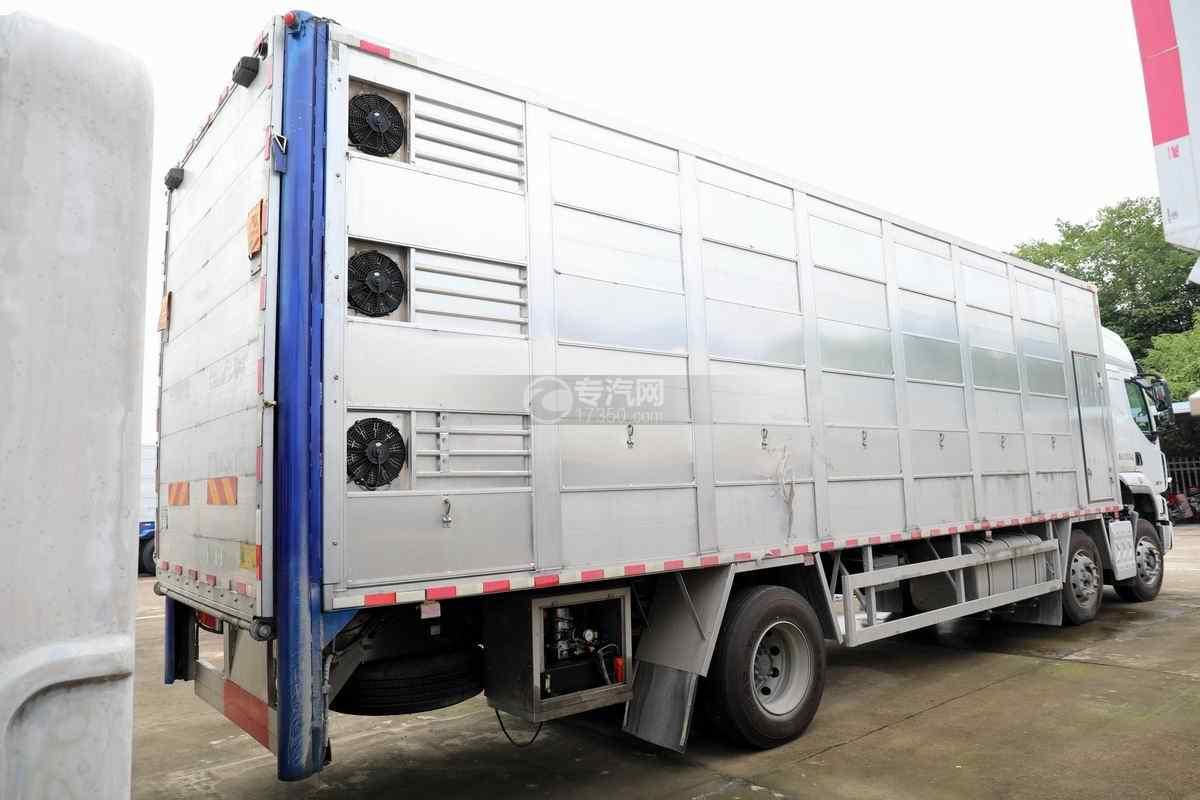 东风柳汽乘龙H5小三轴国六铝合金畜禽运输车右后图