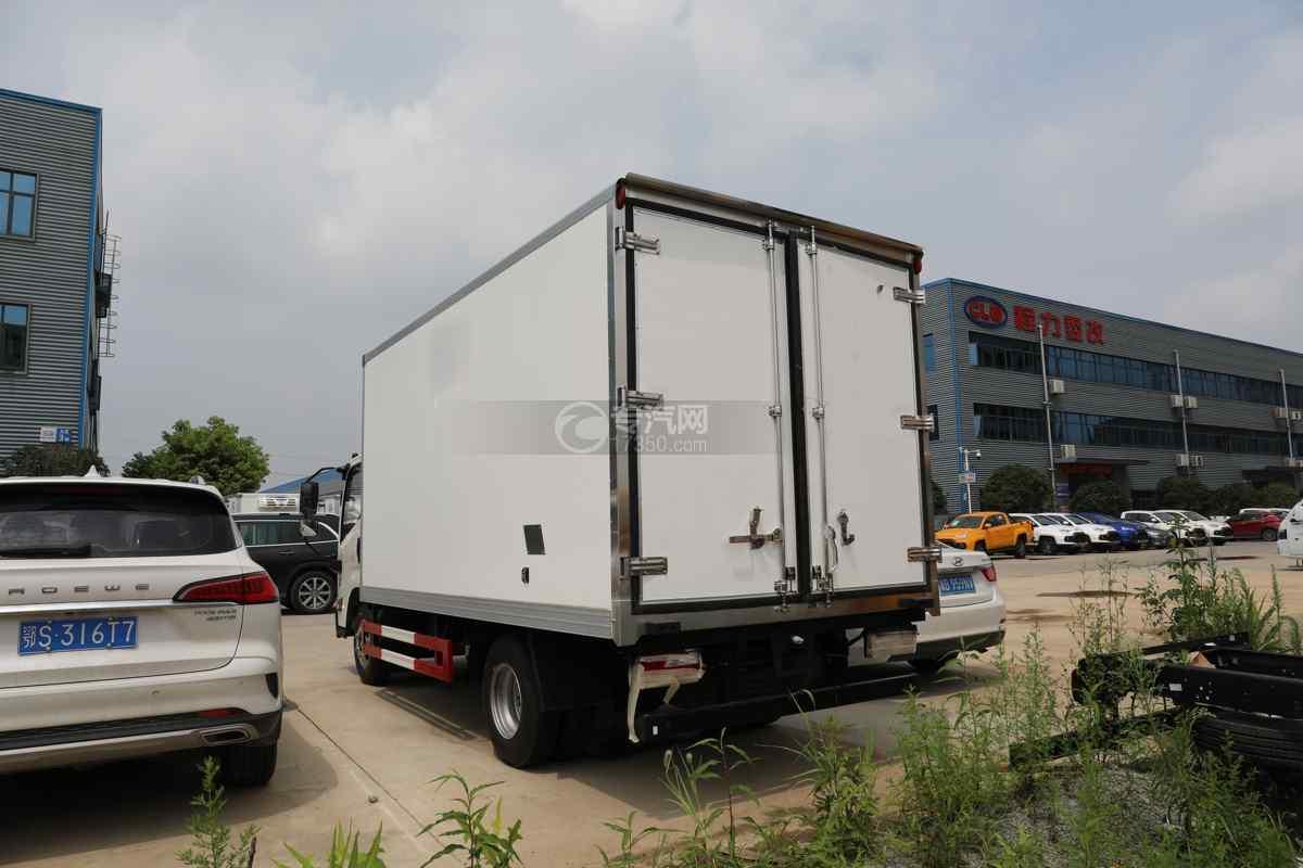 江淮凯运国六4.08米冷藏车左后图