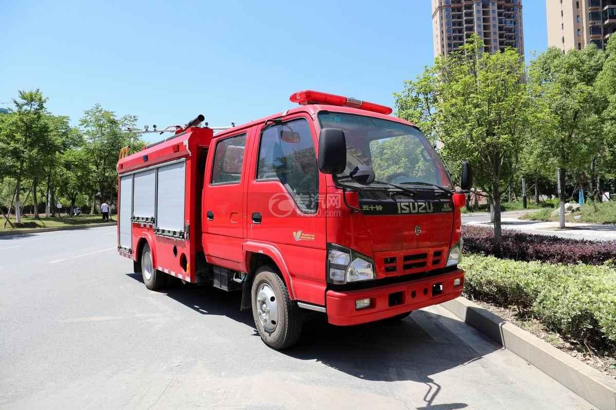 慶鈴五十鈴ELF雙排國六泡沫消防車