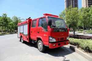 庆铃五十铃ELF双排国六泡沫消防车图片