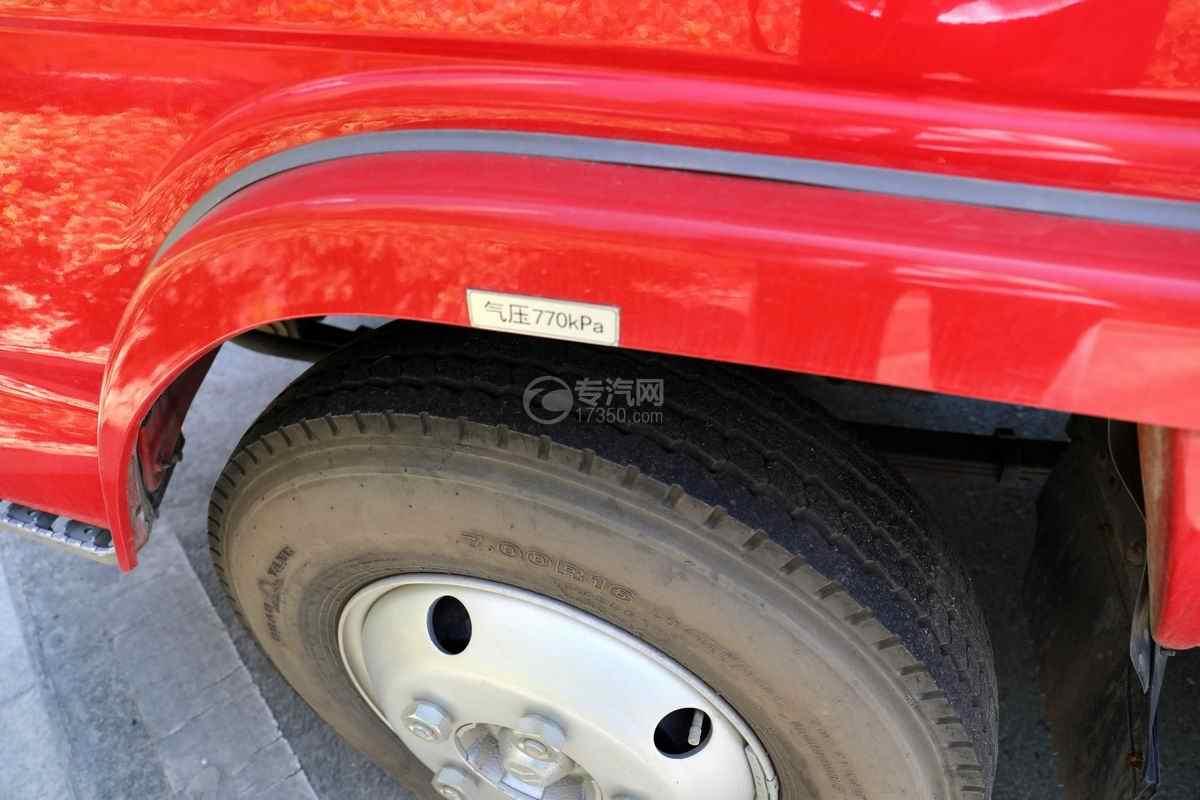 庆铃五十铃ELF双排国六泡沫消防车轮胎规格