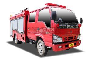 庆铃五十铃ELF双排国六泡沫消防车