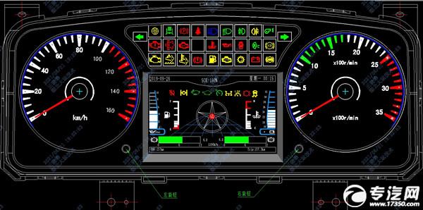 國六專用車組合儀表指示燈說明