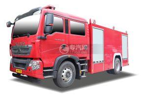 重汽豪沃TX双排国六单桥泡沫消防车
